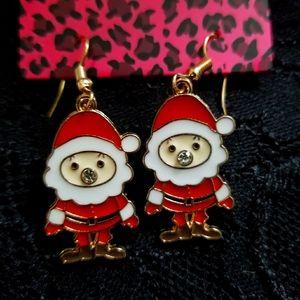 Betsey Johnson Christmas Earrings